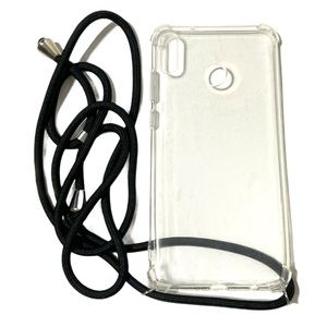 Phone Case Huawei 8X Max Crossbody Silicone Clear
